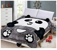 The Newest Modern Fashion Polyester Comforter 60 by 79-Inch, Big Panda Material: 100% Polyester 1 pcs: 1 comforter Size: 60 by 79-Inch