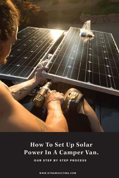 ◄ simpliRV ► How To Set Up Solar Power In A Camper van: Our Step By Step Process of setting up solar power in our sprinter van. Van Camping, Camping Hacks, Camping Ideas, Truck Camping, Camping Essentials, Camping Gadgets, Camping Supplies, Camping Stuff, Vw Bus