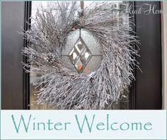 Winter Welcome-easy winter wreath