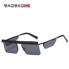 ca76cac092340 TAOTAOQI Square Sunglasses Women Fashion Designer Square Punk Retro Sunglasses  Men Rimless Glasses Female UV400 Oculos de sol
