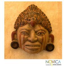 Handcrafted Ceramic 'Maya Priest' Mask (El Salvador) | Overstock.com, $30.99.