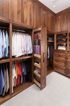 Master Bathroom with His and Hers Closets - traditional - Closet - Houston - Sneller Custom Homes and Remodeling, LLC