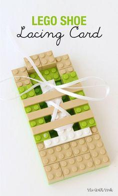 LEGO shoelace practice board for kids