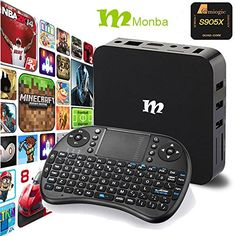 awesome Monba W8 absolutely loaded TV Box Android S.zero XBMC Amlogic S905X Quad Core 1G/8G help 4K Movie stay television and wifi with wi-fi keyboard