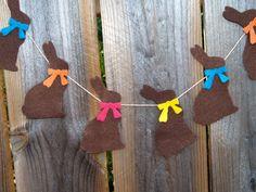 Chocolate Easter Bunny Garland Bunting.