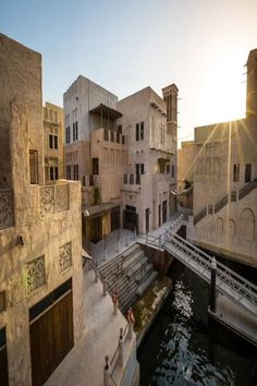 Immerse Yourself in Old Arabia at Dubai's Al Seef Hotel by Jumeirah Spread across 22 traditionally designed Arabian homes along the Creek's south bank, the newly open Al Seef Hotel by Jumeirah has. Hotels And Resorts, Best Hotels, Heritage Hotel, Dubai Hotel, Grand Mosque, Traveling By Yourself, The Neighbourhood, National Parks, House Styles