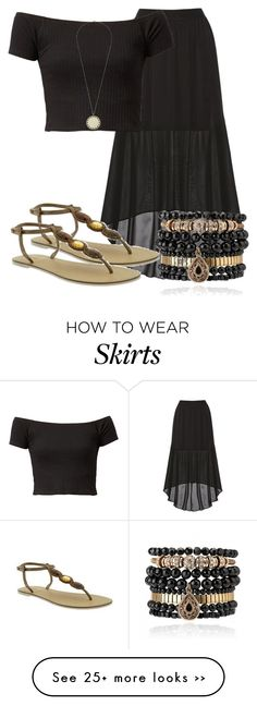"""""""Long Skirt"""" by reishelalynna on Polyvore featuring Alice + Olivia, Old Navy, House of Harlow 1960 and Samantha Wills"""