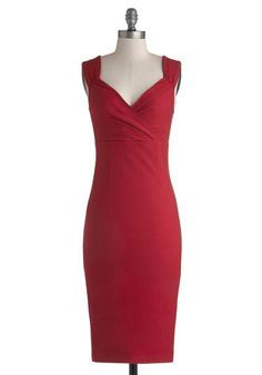 Lady Love Song Dress in Ruby, #ModCloth--wow this dress is great! Totally would buy this if I wasn't so short hehe