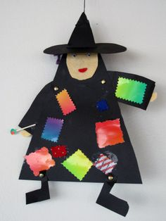 Pääsiäisnoita 1.-4.lk. Halloween Art Projects, Diy Halloween, Bricolage Halloween, Halloween Decorations, Halloween Crafts For Kids, Easter Crafts For Kids, Holiday Crafts, Diy Ostern, Easter Art