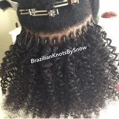 """291 Likes, 53 Comments - K I N K Y C U R L Y Y A K I™ (@kinkycurlyyaki) on Instagram: """"@brazilianknots used #kinkycurlyyaki Kinky Curly hair to do Brazilian knots. Although we don't…"""""""