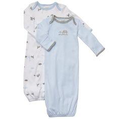 Carter's Baby Boy Blue Elephant 2 Piece Gown Set Newborn