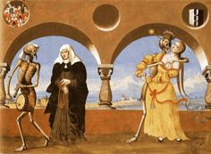 Medical Art Dance of Death   ... Manuel Deutsch (ca 1484-1530)-'dance of death -oil on wood-1517