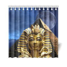 "King Tut and Pyramid Shower Curtain 69""x70"". FREE Shipping. FREE Returns."