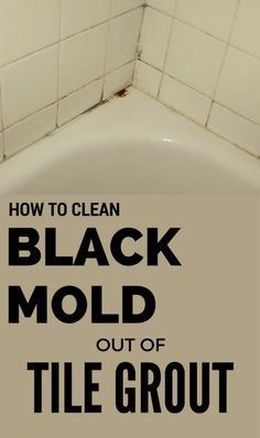 How To Clean Black Mold Out Of Tile Grout 101cleaningtips Net Clean Black Mold Borax Cleaning Clean Bathroom Grout