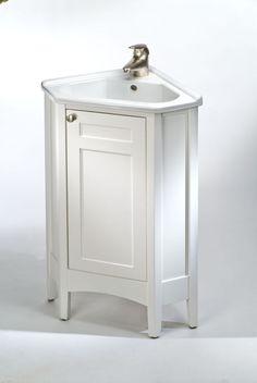 Bathroom: Diy Corner Bathroom Sink And Vanity Cabinet That Have White  Double Doors Used Steel