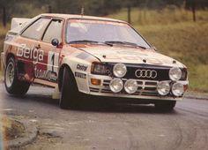 Audi Quattro rally car - Group B; super fast car....