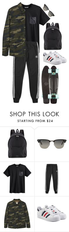 """shameless men"" by harrslout ❤ liked on Polyvore featuring Burberry, Ray-Ban, Hurley, adidas, MANGO, adidas Originals, men's fashion and menswear"