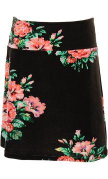 King Louie Skirt - Black Florals