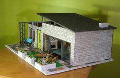 47 Ideas For Doll House Diy Plans Mid Century Modern Dollhouse, Diy Dollhouse, Dollhouse Furniture, Dollhouse Miniatures, Doll Furniture, Bubble Chair, Idee Diy, Lego House, Miniature Houses