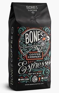 Bones Coffee Co. by Joshua Noom Love the color combination on this one.