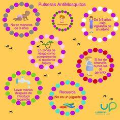 Pulseras repelentes de mosquitos