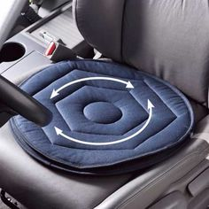 Soft Swivel Seat to easily exit a car for those with spine injuries when it hurts to twist. :)