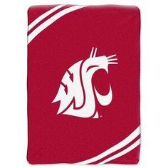 Washington State Cougars NCAA Royal Plush Raschel Blanket (Force Series) (60x80)