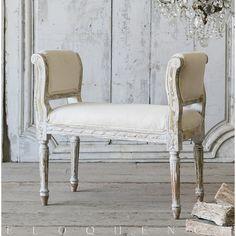 Eloquence® Vintage Louis XVI Style Lavender Banquette