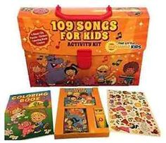 109 Songs Kids Activity Kit: 4 Fun Music CDs Puzzles, Stickers, Coloring Book #ebay #trinital #ActivityKit