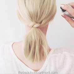 Style Inspiration: Criss-Crossed Ponytail