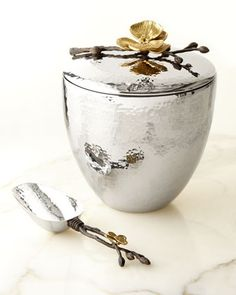 Gold+Orchid+Ice+Bucket+&+Scoop+by+Michael+Aram+at+Neiman+Marcus.