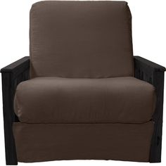 Epic Furnishings LLC Berkeley Perfect Sit N Sleep Futon Chair Upholstery: Suede Olive Green, Frame Finish: Black Wood Futon Chair, Furniture Upholstery, Chair Fabric, Upholstery Trim, Upholstery Nails, Upholstery Cushions, Upholstery Cleaning, Boat Upholstery, Upholstered Chairs