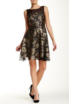 Eva Franco - Illusion Yoke Bailey Dress at Nordstrom Rack. Free Shipping on orders over $100.