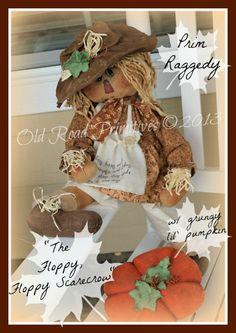 ***NEW*** The Floppy, Floppy Scarecrow Prim Scarecrow Raggedy Pattern-Prim Scarecrow Raggedy,Scarecrow Pattern,Raggedy Pattern,Fall Pattern,...