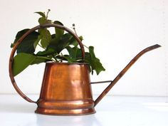 Vintage Copper Watering Can - Plants, Gardening - Home Decor
