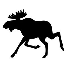 This etsy shop has so many decals for inexpensive. they are all silhouette Silly Running Moose Die-Cut Decal Car by BeeMountainGraphics