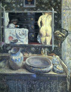 Mirror On The Wash Stand - Pierre Bonnard  1908