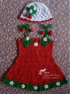 Strawberry Dress free crochet graph pattern