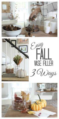 Easy Fall Vase Filler 3 Ways