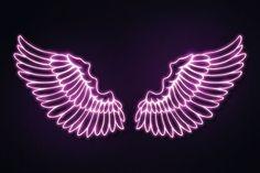 Pink Neon Wallpaper, Wings Wallpaper, Pink Neon Sign, Pink Neon Lights, Neon Licht, Neon Sign Bedroom, Neon Quotes, Hacker Wallpaper, Neon Backgrounds