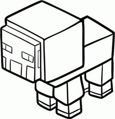 how to draw a minecraft sheep step 7