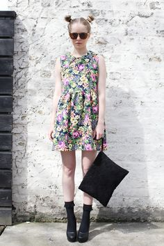 Graphic Floral Dress - THE WHITEPEPPER http://www.thewhitepepper.com/collections/dresses/products/graphic-floral-dress