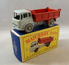 Lesney Matchbox Toys MB3b Bedford Tipper Truck Red With GPW - http://www.matchbox-lesney.com/?p=9968
