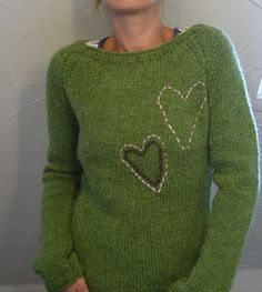 Ravelry: lilalu's green hearts /  not sure what I think about this idea?