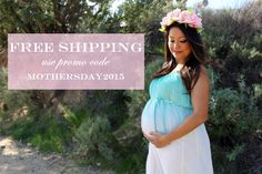 FREE SHIPPING for Mother's Day from Heritwine Maternity.  No minimum required.