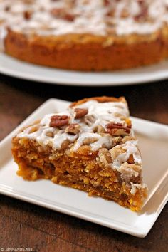 Moist and so flavorful, this Pumpkin Coffee Cake can be enjoyed year round and is particularly good with a cup of coffee.         A lig...