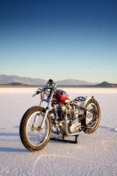 Triumph salt flat racer | Bobber Inspiration - Bobbers and Custom Motorcycles | bik3 August 2014