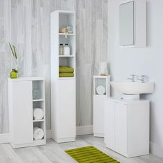 Buy the High Gloss Compact Bathroom- Tallboy, Grey from STORE today! A part of our Bathroom Storage Cabinets & Units range. Bathroom Storage Units, Bathroom Furniture, Mirror Cabinets, Bathroom Tallboy, White Corner Cabinet, Bathroom Wall Cabinets White, White Bathroom, Mold In Bathroom, Under Bathroom Sinks