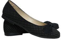 Zapatos Chatitas Sin Taco Con Moño Y Tachitas Doradas Nuevas - $ 399,99