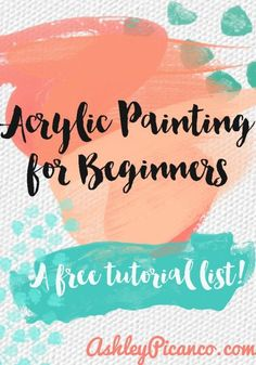 A list of free acrylic painting tutorials for beginners. Related posts: Autumn Acrylic Painting Tutorials by Angela Anderson on. Acrylic Painting For Beginners, Acrylic Painting Techniques, Beginner Painting, Art Techniques, Acrylic Painting Tutorials, Watercolour Tutorials, Acrylic Art, Watercolor Tips, Watercolor Painting